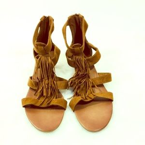 American eagle sandals brown size 10 w/ zipper